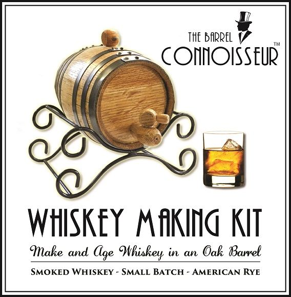 Whiskey Making Kit with personalization and cool iron stand.