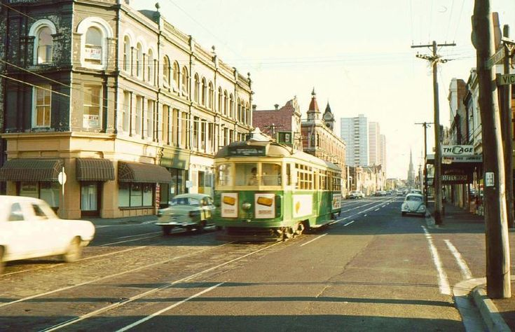 Brunswick St 1979. The same spot these days: https://www.google.com.au/maps/@-37.7990486,144.9783048,3a,75y,174.56h,90.15t/data=!3m4!1e1!3m2!1snqmvmPzrVn0tPH6qejTqqw!2e0