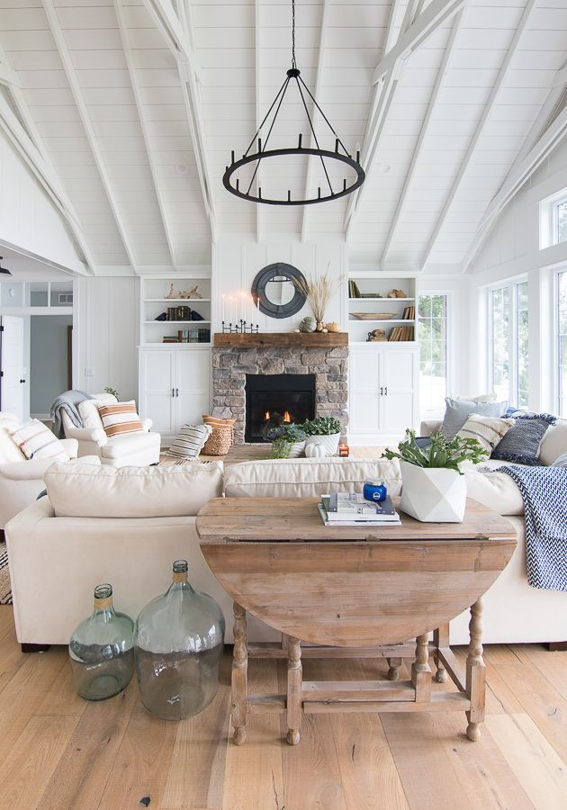 Fall Home Decor Tour Navy And Rust Living Room Flooring Fall Living Room Decor Home Living Room