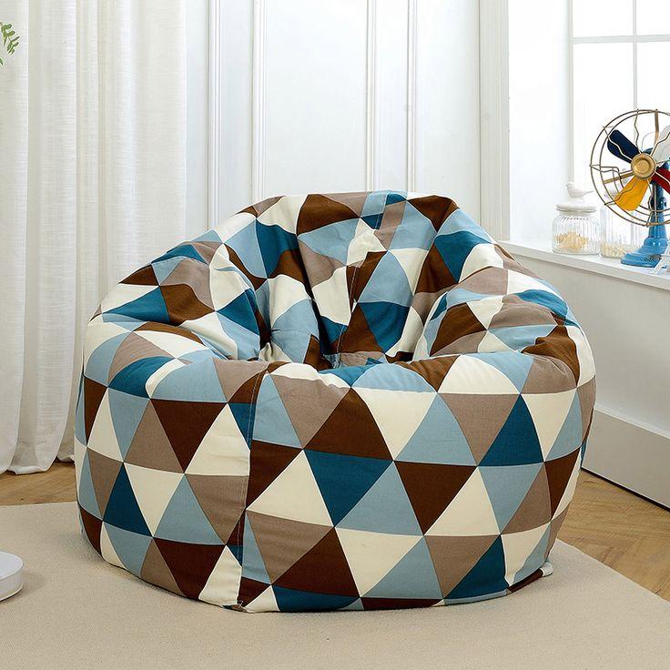 Diameter 120 cm Polynesian Bean Bag chair, Taman berkemah Beanbag penutup, Sofa malas, Di mana saja portabel duduk bantal