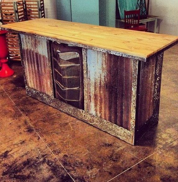 Cute Bar With The Grill Of An Old 39 35 As The Centerpiece