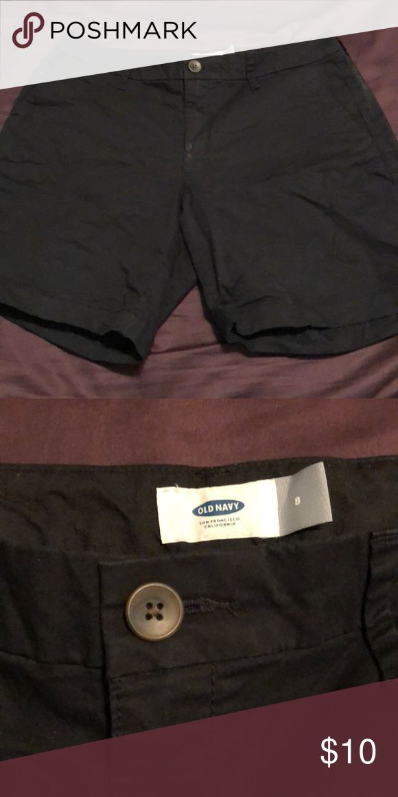 Black old navy shorts Mid thigh.button and zipper closure. Old Navy Shorts