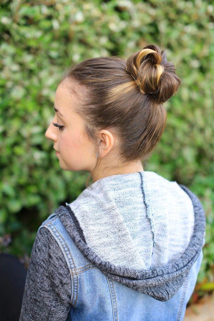 Crown Bun   Cute Girls Hairstyles