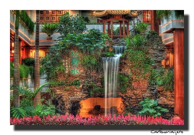White Swan Hotel, situado al lado del Rio Perla en Cantón (Guangzhou), China.
