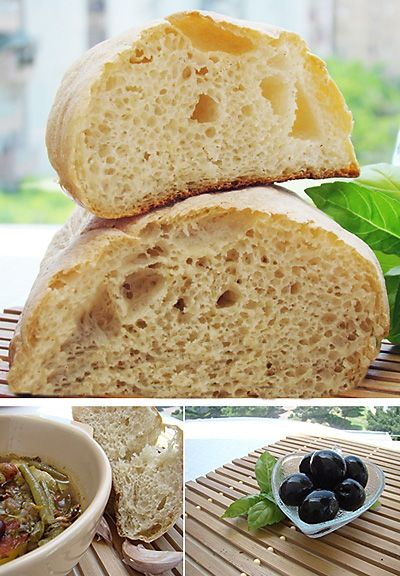 Итальянский воздушный хлеб • Elaizik