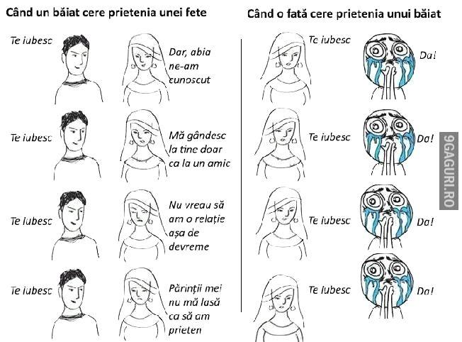 Ce se întâmplă când un băiat îi cere prietenia la o fată și ce se întâmplă când o fată   Link Postare ➡ http://9gaguri.ro/media/ce-se-intampla-cand-un-baiat-ii-cere-prietenia-la-o-fata-si-ce-se-intampla-cand-o-fata