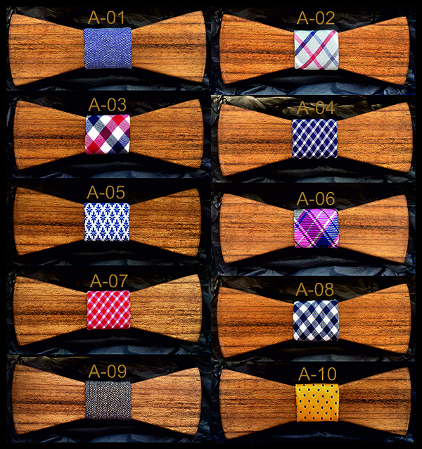 Wooden Bow Tie Amazaque Wood