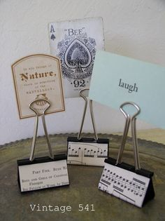 Binder clips as sign holders