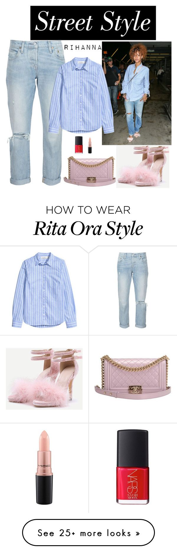 """""""Sin título #834"""" by karlamichell on Polyvore featuring Levi's, Chanel, NARS Cosmetics and MAC Cosmetics"""