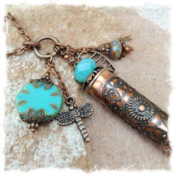Shell Casing Bullet Jewelry Copper Bullet by ObtainiumDesigns