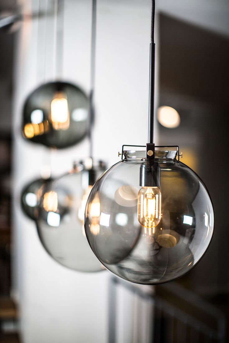 Coppola pendant with clear glass in smoke, design by Niclas Hoflin for Rubn