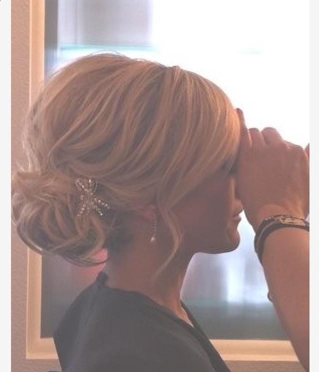 So pretty. wedding hair