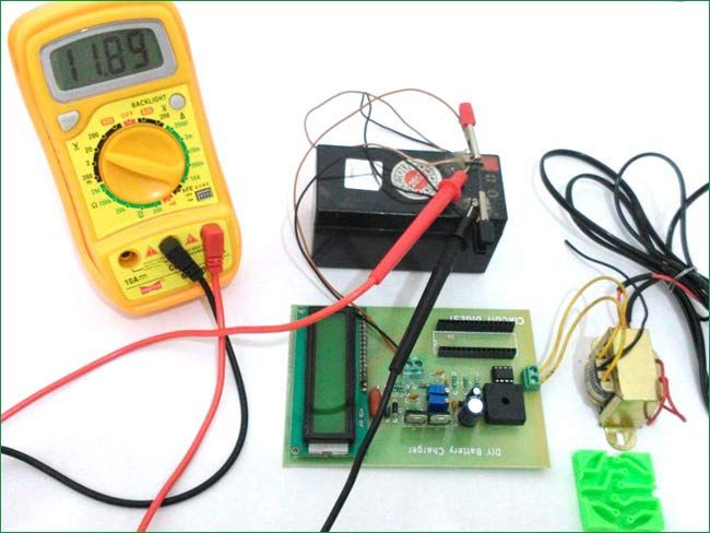 12v Battery Charger Circuit Diagram using LM317