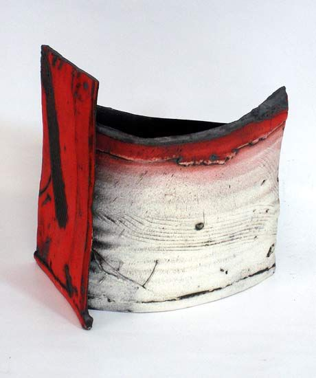 Ceramics by John Higgins at Studiopottery.co.uk - 2013. Constructed form- thrown and altered (1)