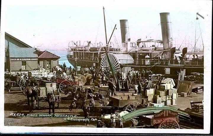 King's Wharf in Newcastle,New South Wales (from a postcard).A♥W