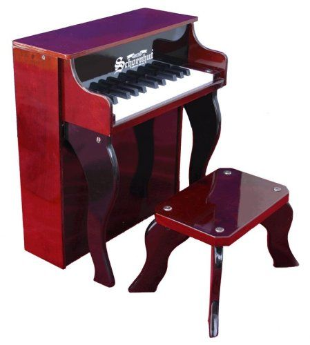 Schoenhut 25 Key Elite Spinet with Bench - http://www.kidstrument.com/keyboards/schoenhut-25-key-elite-spinet-with-bench