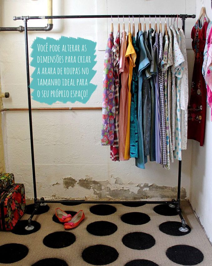DIY: Arara de roupas   Comprando Meu Apê
