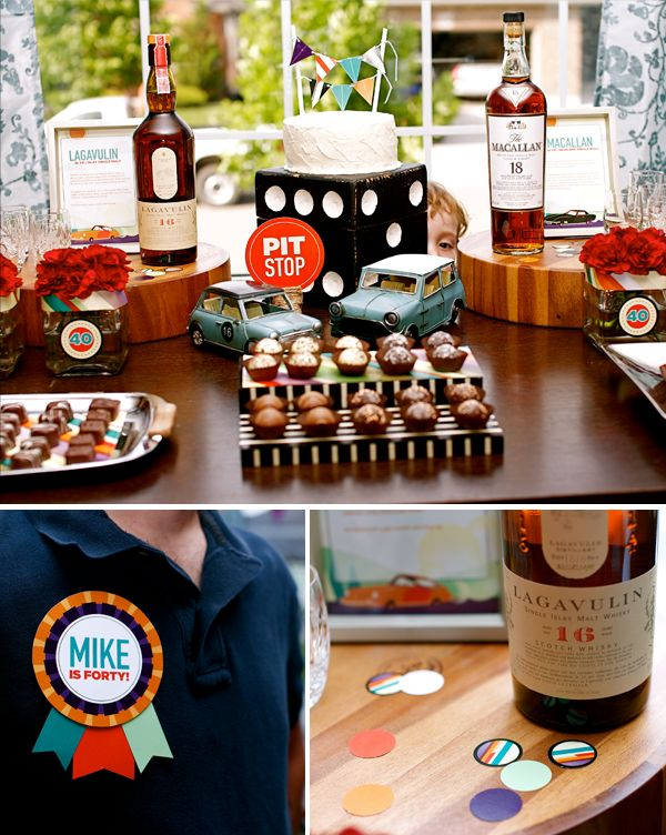 Scotch and chocolate party parties rob birthday party ideas pinterest birthdays love - Birthday party theme for men ...