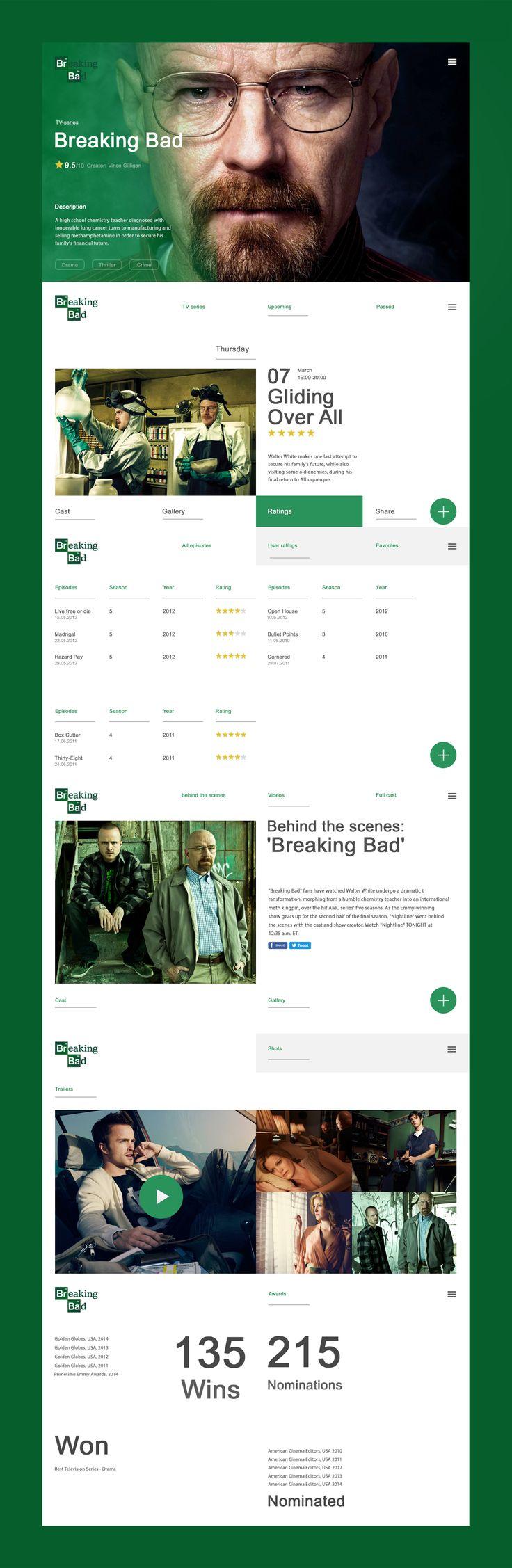 ideeën en informatie van hoe een movie website er ongeveer zou kunnen uitzien