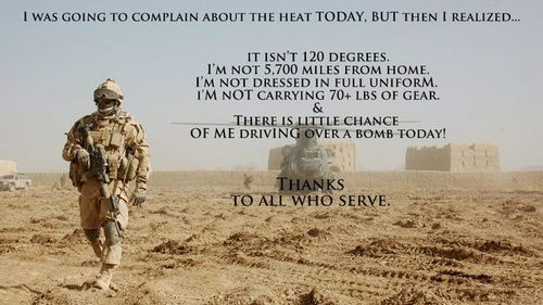 Thank you, troops.