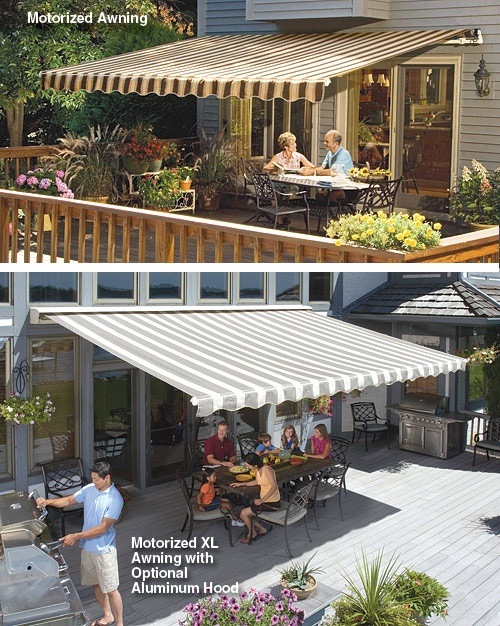 retractable awnings awning sunsetter manual price motorized