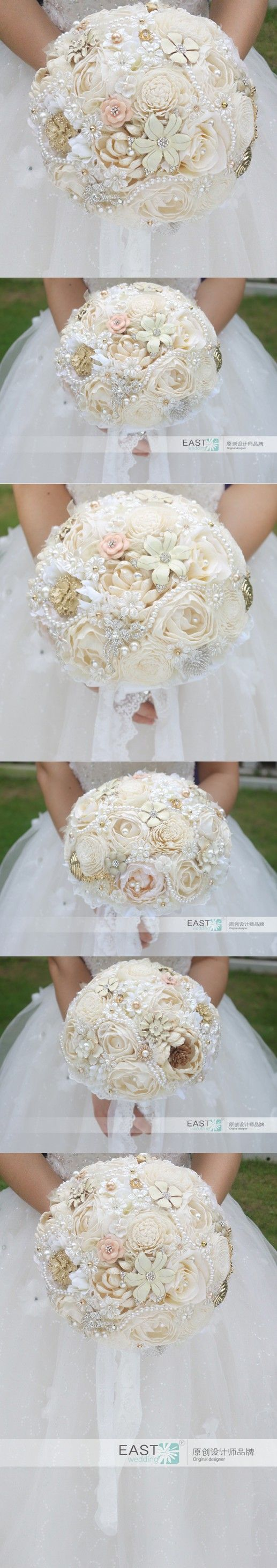 1940's style wedding bouquets   best Wedding BouquetsNot Floral images on Pinterest  Wedding