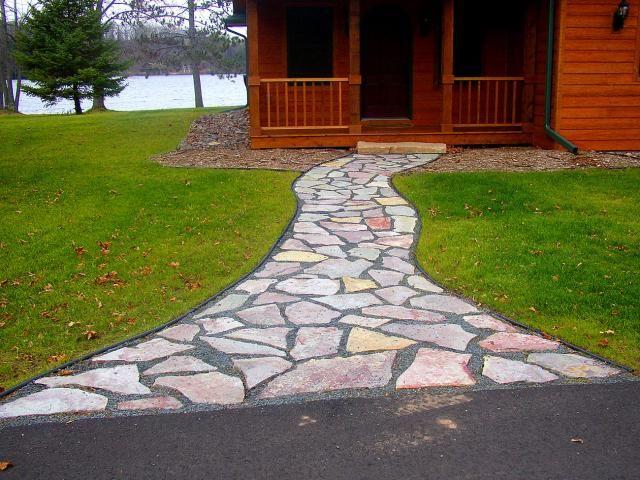 pea stone walkway | flagstone pea gravel walkway | Rick Gruel Landscaping