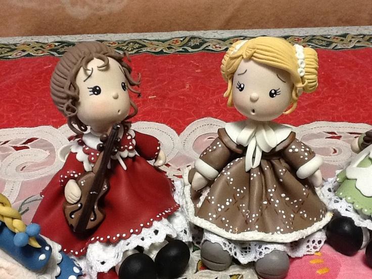 niñas porcelana fria polymer clay pasta francesa masa flexible biscuit cake topper modelado modelling fimo