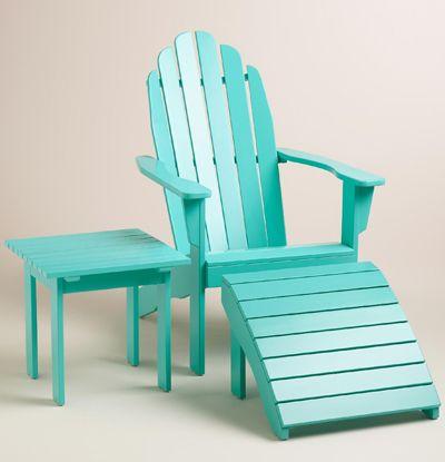 Lagoon Adirondack Chair Collection Turquoise Beach Chair