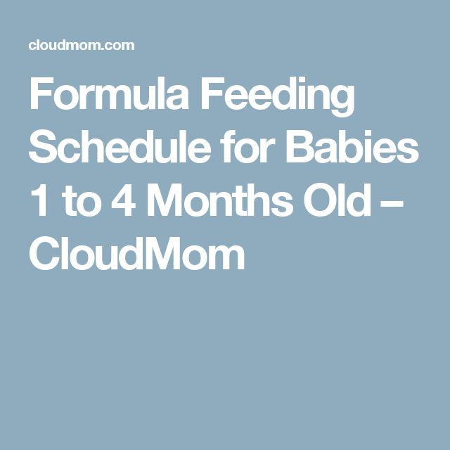 How Much Formula  Months Old Baby Should Be Drinking