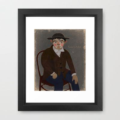 Portrait Framed Art Print by beatipossidentis - $35.00