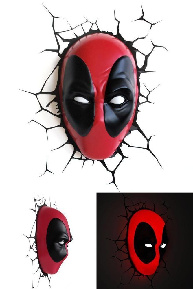 #3DLightFX #Marvel #Deadpool #Mask #3D #Decor #Led #Nightlight #Fan #Room #Wall #Fridge #Gift #3DLightFX
