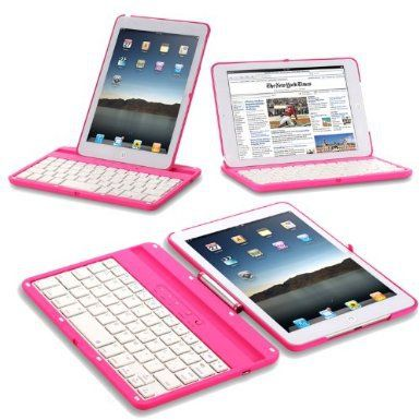 Exact 360 Degree Rotation Bluetooth Keyboard with Aluminum Shelf for IPAD MINI Pink:Amazon:Computers & Accessories @Sofia Nordgren Prieto