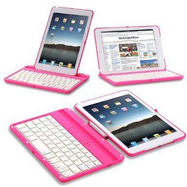 Exact 360 Degree Rotation Bluetooth Keyboard with Aluminum Shelf for IPAD MINI Pink:Amazon:Computers & Accessories @Sofia Nordgren Prieto
