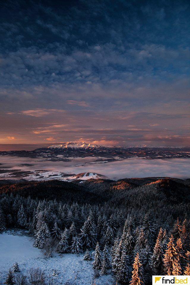 Widok na Tatry z Lubania