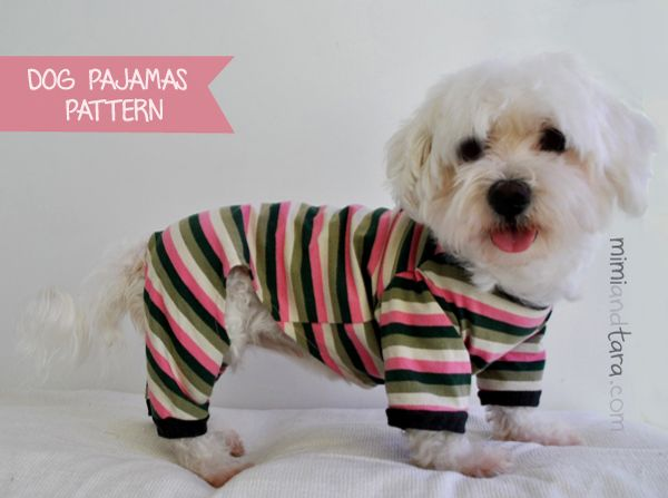 Make a cute dog pajamas with this pattern available in six sizes!! Beautyful dog clothes patterns. DIY with step by step instrucctions easy tutorial.