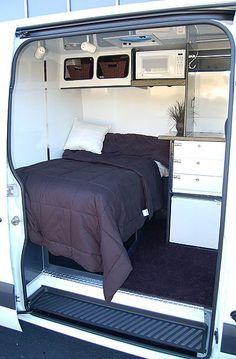 Sprinter Van Sleeper Conversions   Hanvey Sprinter Expediter Vans on Sprinter Van for freight haulers by ...