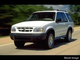 White Ford Explorer