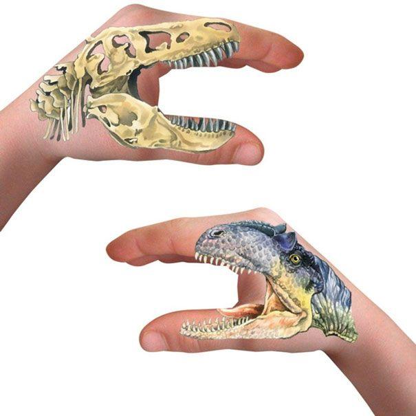 Hånd tatoveringer dyr