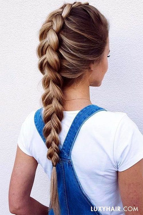 20 spring hair ideas for short, medium and long hair | Braiding Hairstyles, 20-Spring-Hair Ideas-For-Short-Middle-Long-Hair-Braiding-Hairstyles -1 …
