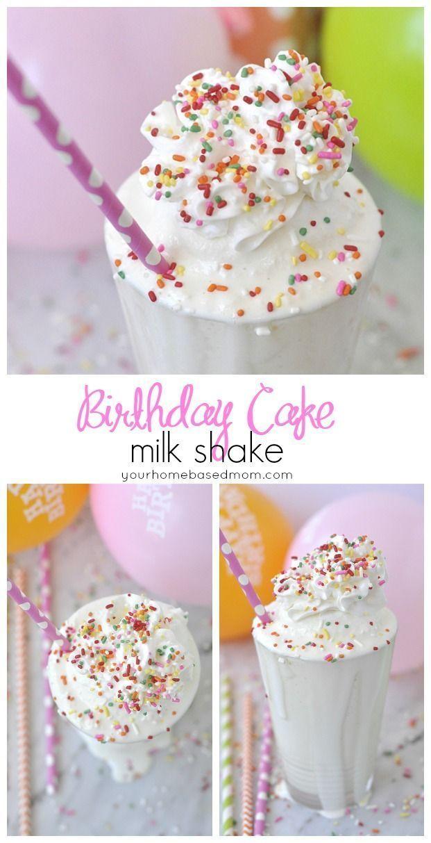 Birthday Cake Milkshake. Fun family tradition for birthdays and birthday parties! http://Capturing-Joy.com