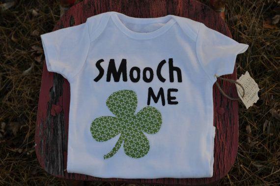 St. Patrick's day Onesie. Smooch me,  I'm IRISH!