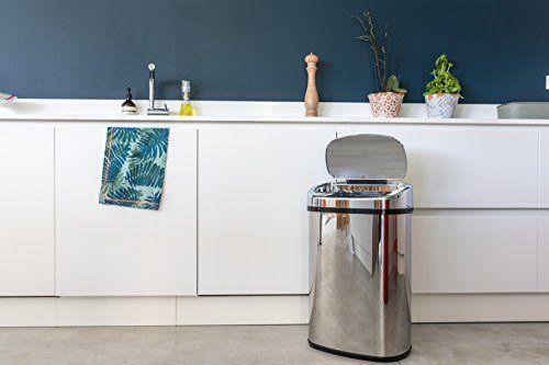Kitchen Move AS Poubelle Automatique de Cuisine Carré Finition Chrome: Price:41.93POUBELLE SENSOR AUTOMATIQUE CARRE 58 Litres INOX de…