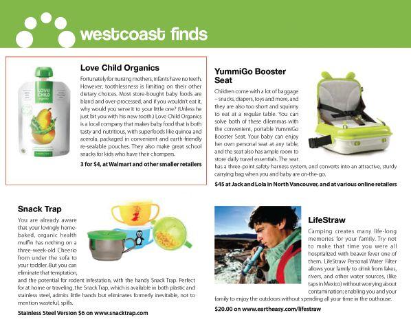 Love Child Organics Featured in Westcoast Finds!