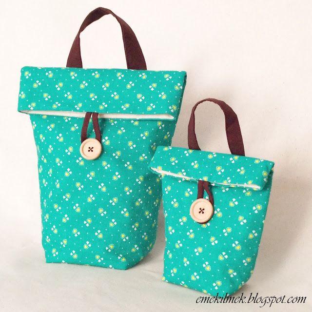 beslenme çantası nasil dikilir, lunch bag tutorial, sewing bag tutorial