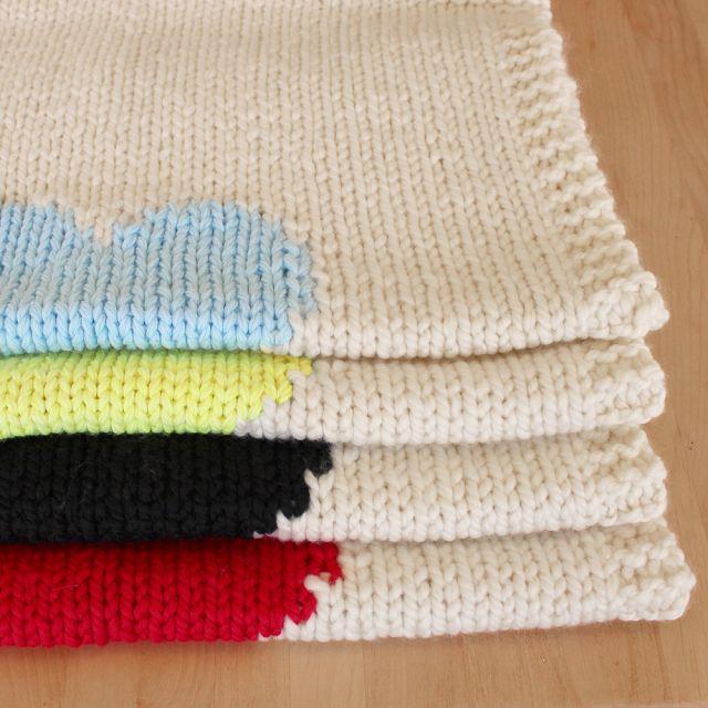 Lavori a maglia, copertine per neonato fai da te - Donnaclick