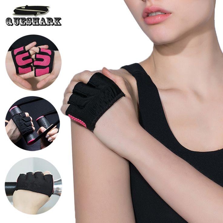 Pria wanita angkat berat crossfit latihan kebugaran sarung tangan semi 4 jari yoga sport silicone non-slip bersepeda sepeda sarung tangan