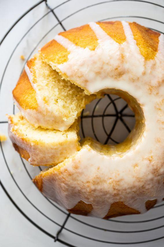 Sour Cream Lemon Cake Recipe With Images Sour Cream Cake Lemon Cake Lemon Dessert Recipes