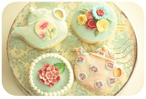 lovely tea party cookies from cupcake d'lights