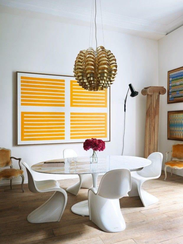 Pinturas geométricas norteiam a decoração da casa de Didier Gomez - Casa Vogue | Interiores